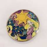 Lower Price Customized Transparent Stained Glass Colorful Tangled Lapel Pin