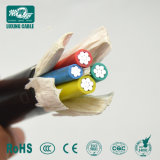 0.6/1kv Solid Round Aluminum Conductor 2 / 3 / 4 / 5 Core 4mm2 PVC Power Cable