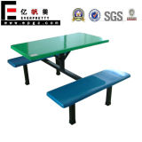 China Factory 4 Seater Fiberglass Restaurant Table Set, Shool Furniture Dining Table, Canteen Tables and Benches
