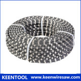 11.5mm Rubber Diamond Wire with Sintered Diamond Beads for Natural Stone Quarry Cutting