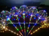Popular LED Light Inflatable Toys Party Decoration Bobo Balloon with Handle Switch