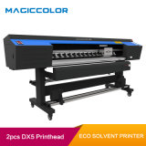 1.9m Digital Vinyl Flex Eco Solvent Printer with 2 Printheads of Epson Dx5