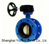 Rubber Seal Casting Double Flange API609 Flanged Butterfly Valve