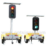 Solar Powered Stop and Go LED Directional Traffic Signal Lights