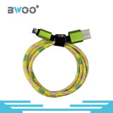 Leather Colorful Lightning Micro Type-C USB Data Cable