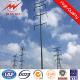 132kv Power Transmission Galvanized Double Circuit Steel Utility Poles