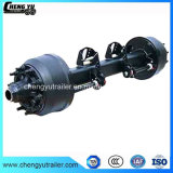 14t German Type Dual Wheel Drum Brake Axle with Lift Air Suspension