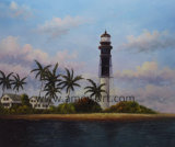 Wholesale American Light House Oil Painting Directly From Workshop