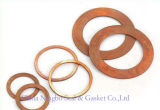 Solid Flat Copper Sealing Ring Red Color