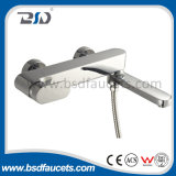 Brass Chrome Wall Mount Bathroom Bath Hot Cold Shower Faucet