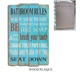 Vintage MDF Sign Wooden Signs Wooden Printing Wall Art with Word Decoration