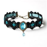 Gothic Punk Collar Choker Jewelry Crystal Necklace