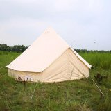 4m 5m 6m Luxury Canvas Bell Lotus Tent Family Tents for Camping