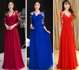 Lace Chiffon Bridal Party Evening Dress Cheap Bridesmaid Dresses Z116