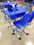 New Design School Furniture Single Student Desk with Pad Holder