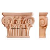 Wood Carved Ribbon & Lamb Tongue Pilaster Capital CAP-F-002