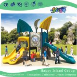 Outdoor Sea Breeze Galvanized Steel Playground Game with Children Double Slide (HG-10103)