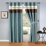 2 Panels 100% Polyester Blackout Window Set Grommet Curtain