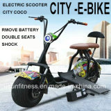 1500W/60V City Coco Electric Mobility Scooter Fat Tire Electric Motorcycle with Front Shock