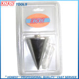 Zinc Plasted Economy Steel Plumb Bob in Blister with Rope