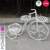 Metal Bicycle Plant Stand 3-Tier Outdoor Decor