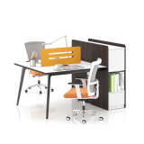 Modern Melamine Executive Office Desk with Cabinet