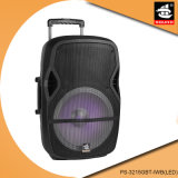 15 Inch Multimedia Party DJ Wireless Karaoke Trolley Bluetooth Active Speaker PS-3215gbt-Iwb (LED)