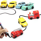 Magic Pen Inductive Car Follow Any Drawn Black Line Track Mini Electrical Toys for Children