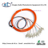 Multicore LC/mm Fiber Optic Pigtail for Subscriber Line Terminal
