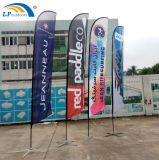 Custom Design Polyeater Advertising Beach Feather Flying Flag Banners for Sale
