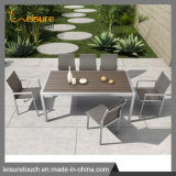 Outdoor Aluminum Plastic Wood Dining Table Set Patio Garden Furniture