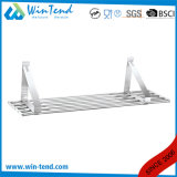 Kitchen Equipment Tube Type Stainless Steel Hanging Metal Wall Mount Shelf for Storage Goods