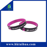 Fashion Customized Embossed Color Filled Silicone Wristband/Bracelet with Thb-001