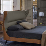Nordic Simple Modern Leather Fabric Bed for Home Furniture