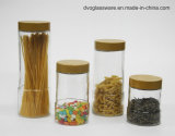 Stock Glass Food Storage Jar with Metal Lid