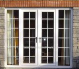 Security Lockable Double Glass French Aluminium Doors