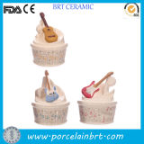 Creative Decoration Music Ceramic Money Box with Guitar