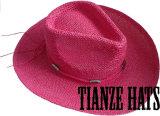 Lady Hat Summer Hat Twisted Paper Cowboy Hat