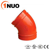 1nuo New Promotion Pipe Fittings Ductile Iron 45 Degree Elbow