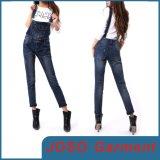 Ladies Vintage Denim Suspender Trousers (JC1106)