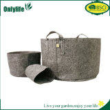 Onlylife Gray 3-Size High Quality Felt Fabric Planter Pot
