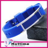 316L Stainless Steel Metal Silicone Energy Bracelet (CP-JS-DW-003)
