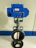 Wafer Type Butterfly Valve with Electric Actuator
