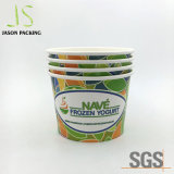 Custom Disposable Paper Frozen Dessert Supplies Ice Cream Cups Yogurt Bowls with Lids Ice Cream Packaging Cup