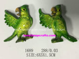 Hello Green Parrot of Good Quality Fridge Magnet