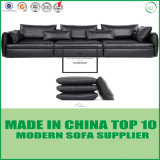 European Classical Modern Living Room Furniture Leather Sofa