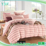 Pink Stripe Cotton Plain Wholesale Bed Cover Hotel