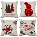 Merry Christmas Cushion Cover Decorative Soft Stuffed Plush Baby Pillows