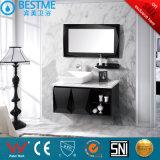 Hotel Design Black Color Solid Wood Bathroom Cabinet by-X7032
