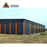 Grey Large Span Light Steel Structure with Sandwichpanel